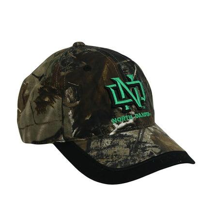 Men's University of North Dakota Fighting Souix Embroidered Cap Camo, Collegiate Licensed Product By Outdoor Cap