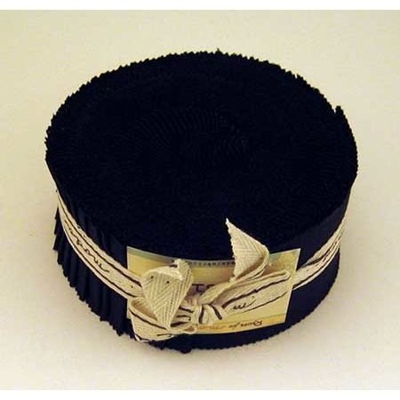 Moda Basics Bella Black Jelly Roll, Set of 40 2.5x44-inch