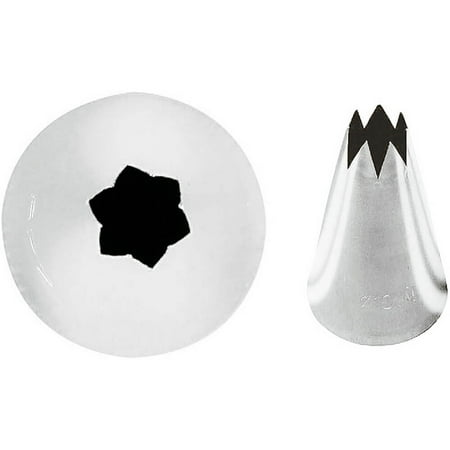 Paderno World Cuisine Icing Tips, Star Shape, Size 6, 6PK, Stainless Steel, 47354-06