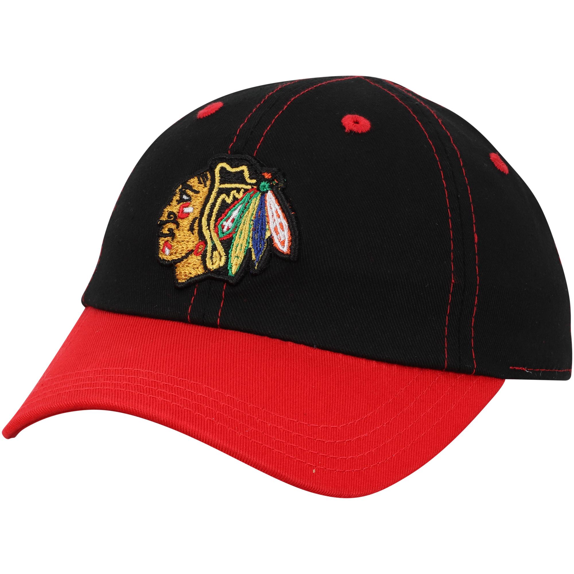 Chicago Blackhawks Infant Chainstitch Slouch Adjustable Hat - Black/Red - OSFA