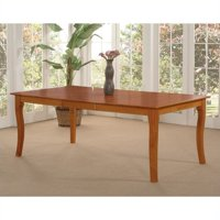 Leo & Lacey Dining Table in Caramel Latte - 36 x 60 Solid Table