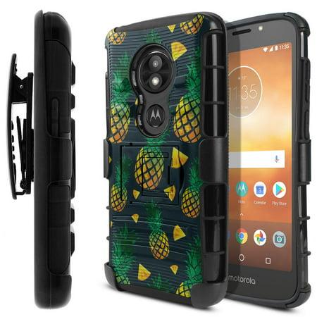 FINCIBO Hybrid Armor Case Cover Stand TPU Holster for Motorola Moto E5 Play 5.2