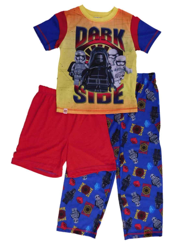 Lego Star Wars Boys 3 Piece Dark Side Sleepwear Pajama Set