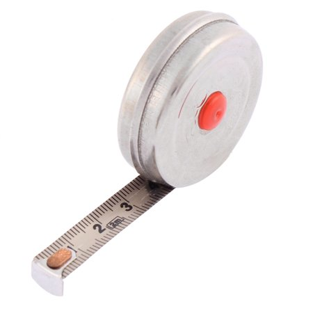2 Meter 6.5Ft Length 10mm Width Retractable Metric Steel Tape Ruler Measure Tool