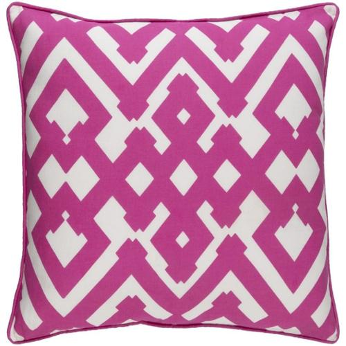 Decorative Esme 22-inch Down or Poly Filled Throw Pillow Polyester - Pink