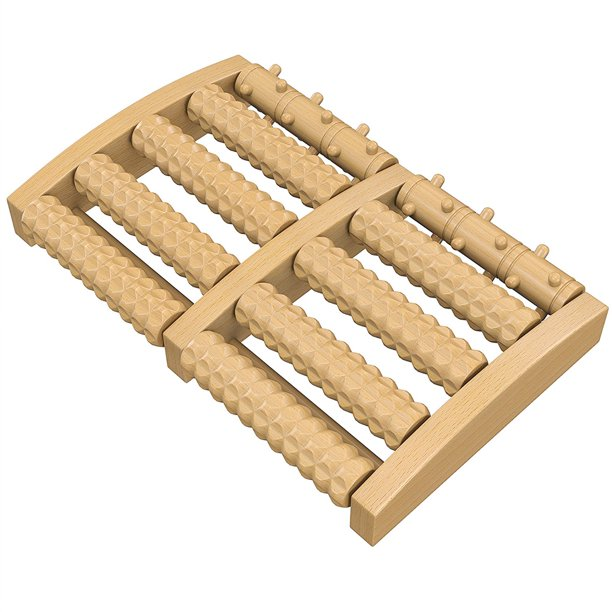 Wooden Dual Foot Massager, 5 Rows Design, Pain Relieve ...