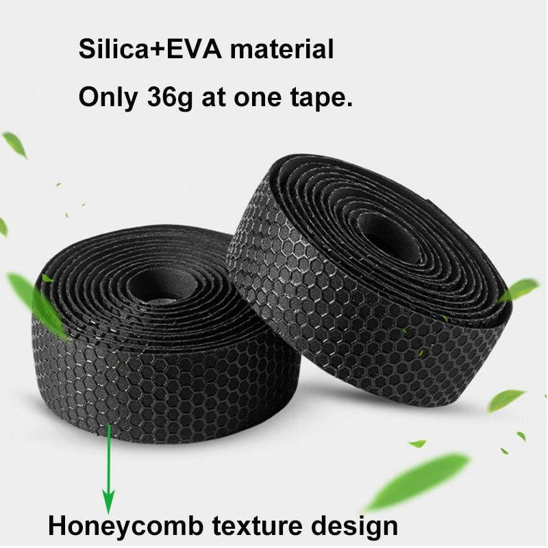 Road Bicycle Bike Cork Handlebar Wrap Bar Tape Bandage Belts Kit Silicone+EVA