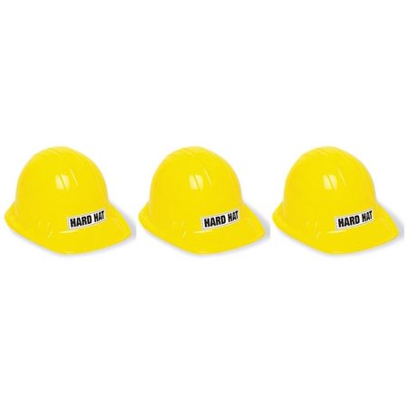 Yellow Santa Hat ((3 Pack) Kids Construction Party Hat, Yellow,)
