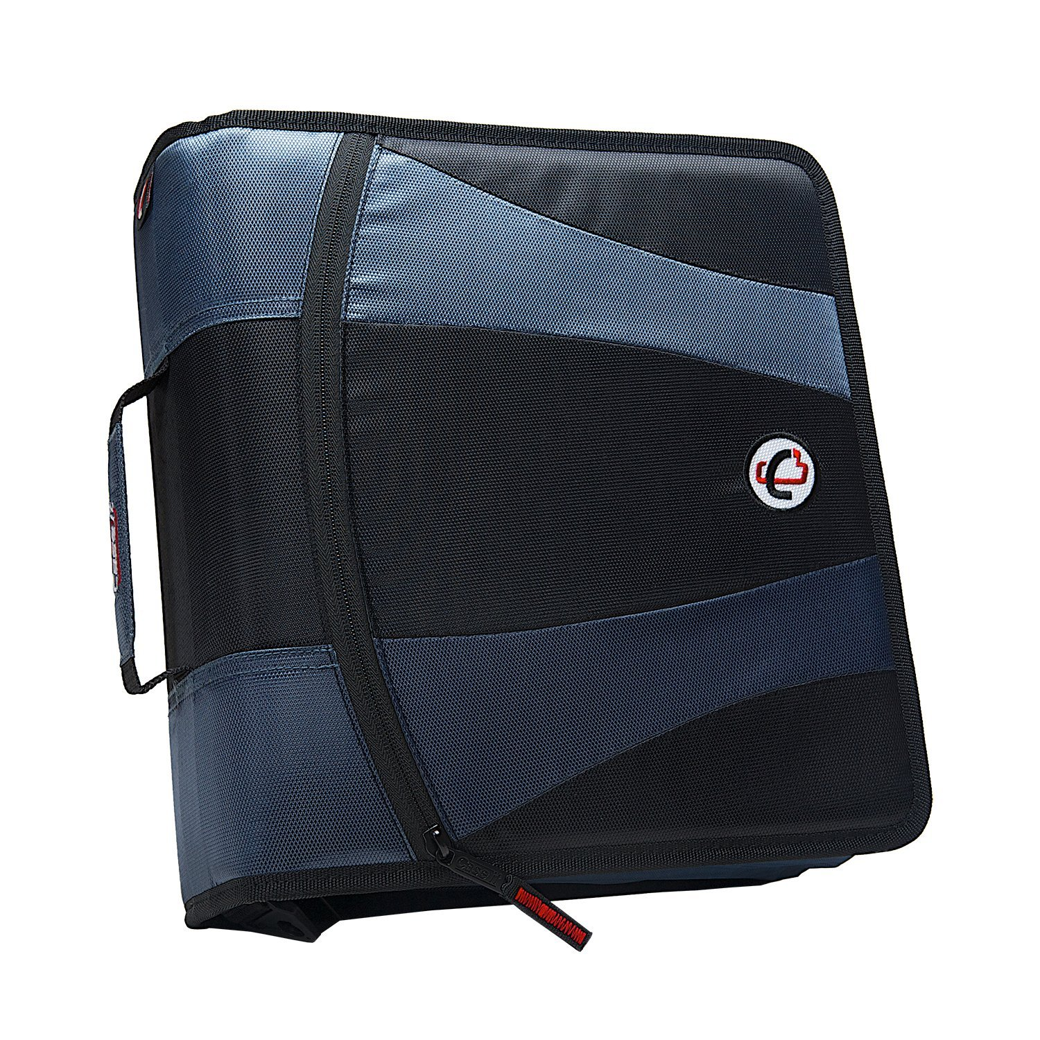 "Case it the pro leatherette binder, 1"" d-ring strap binder w/tab file"