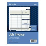Job Invoice Forms Carbon Copy Carbonless Paper Office Record Keeping Businesses