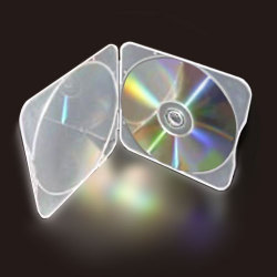4mm Clam Shell Clear Square Dura CD DVD Disc Saver (100 pack)