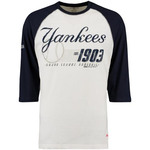 New York Yankees Stitches 3/4-Sleeve Raglan T-Shirt - Cream