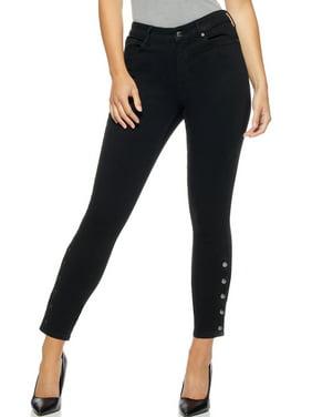Sofia Jeans by Sofia Vergara Womens Mid-Rise Skinny Snap Ankle Jeans