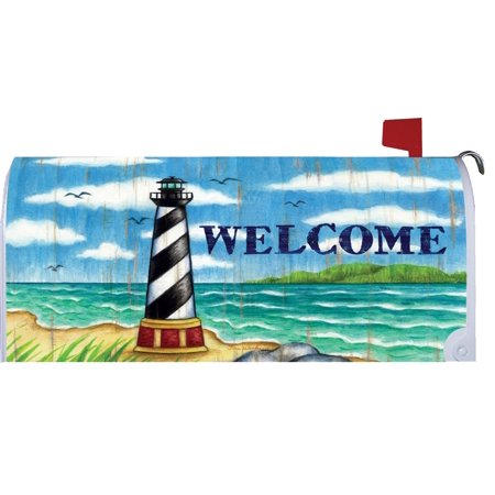 Hatteras Lighthouse Coastal Welcome Magnetic Mailbox Cover (Lighthouse Mailbox)