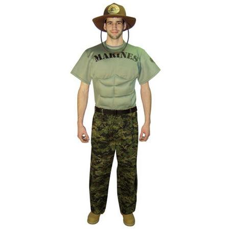 Marine Sergeant Muscle Chest Halloween Costume
