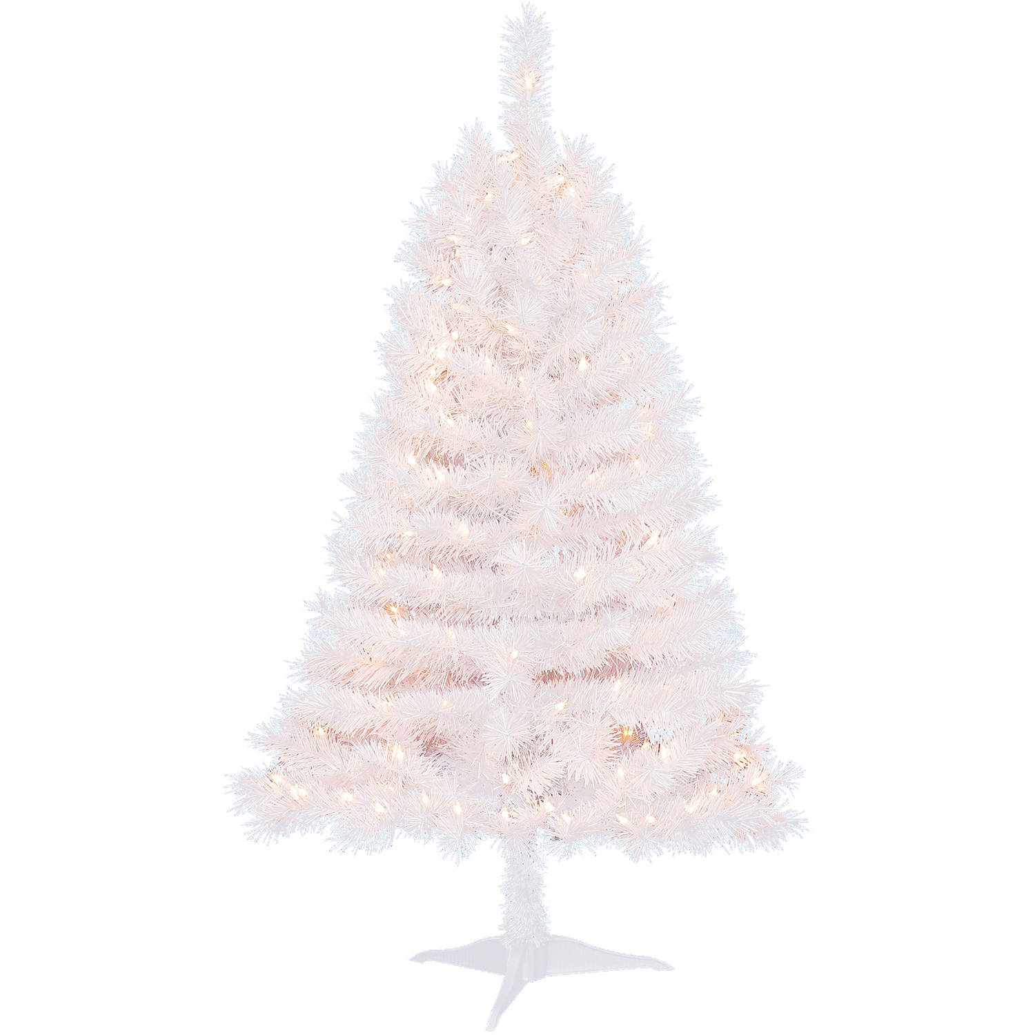 Holiday Time Pre-Lit 4' Indiana Spruce White Artificial Christmas ...
