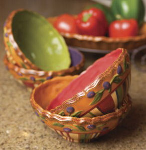 Manual Woodworkers & Weavers CITIP4 Toscana Pasta Bowls, Set of 4 by Manual Woodworkers & Weavers