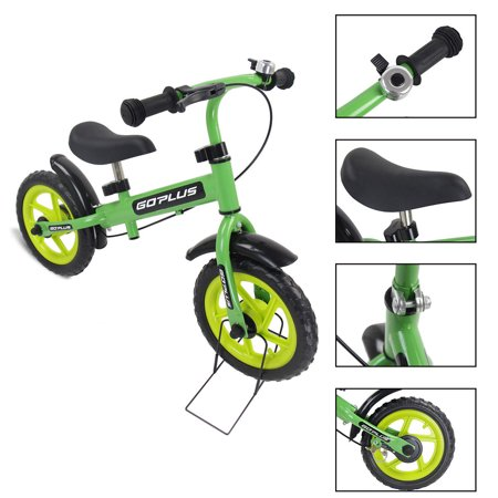 Goplus 12'' Green Kids Balance Bike Children Boys & Girls with Brakes and Bell Exercise - image 9 de 9