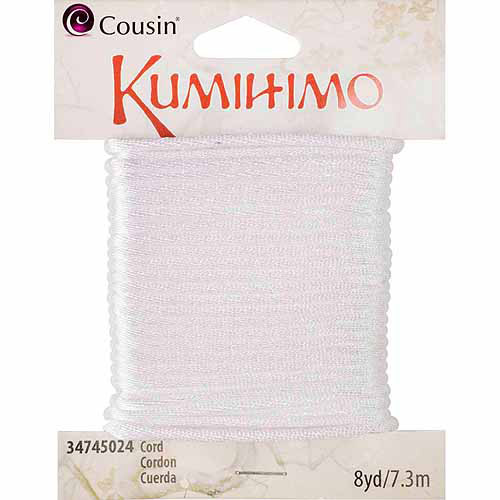 Cousin White Kumihimo Cord