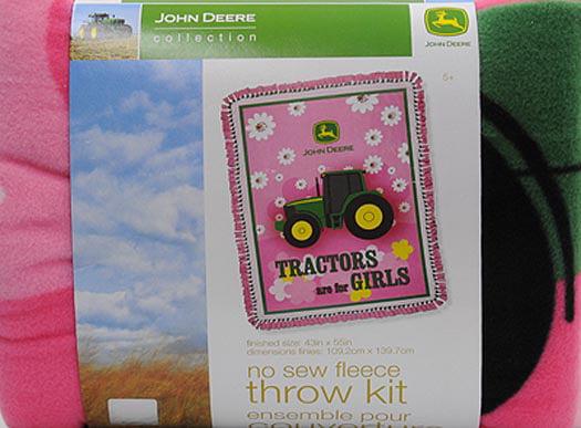 Girls John Deere No Sew Blanket Kit New Tractors Are For Girls Retired 2014