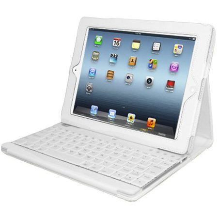 Adesso Compagno 3 Bluetooth Scissor-Switch Keyboard with Carrying Case for Apple iPad, (Best Keyboard For Ipad 3)