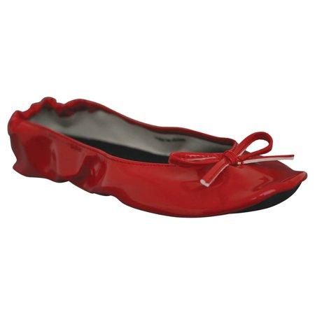 Red Ballet Flats For Girls (Dawgs Women's Bendable Ballet)