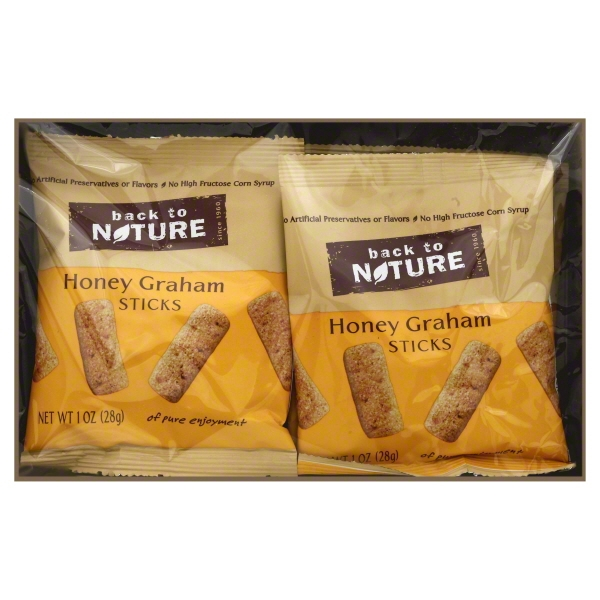 Back to Nature Honey Graham Sticks Cookies, 8 count, 8 oz