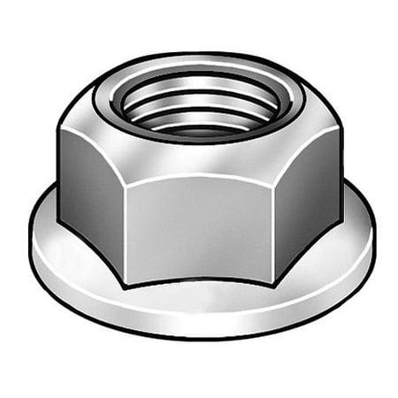 "GRAINGER APPROVED 1/2""-13 Plain Finish 18-8 Stainless Steel Serrated Flange Lock Nut, 10 pk., 4CAN2"