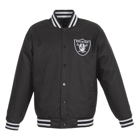 Oakland Raiders NFL Poly Twill Team (Oakland Raiders Jacket)