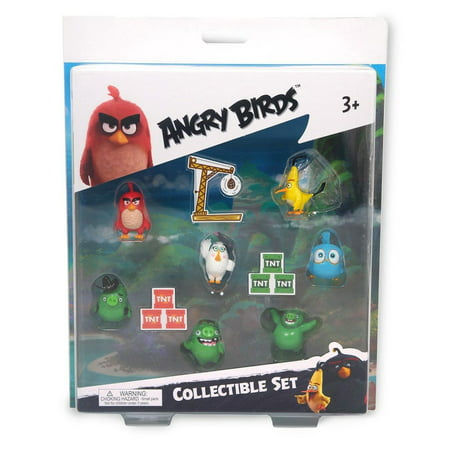 Angry Birds Movie Mini Figure Multi Pack Set B (7 Piece) (Angry Birds Halloween 1-5 Eagle)