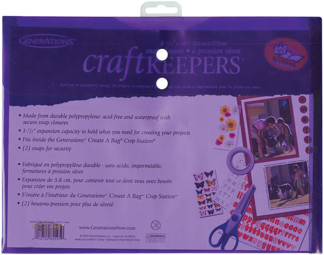 "Craft Keepers Snap Closure Envelope-8.5""X11"" Assorted Colors"