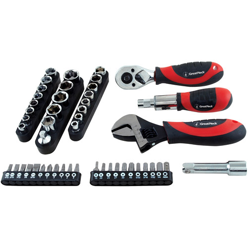 Great Neck Saw 28045 50-Piece Ratchet Socket and Wrench Set