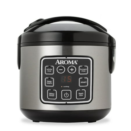 Aroma 8 Cup Programmable Rice Cooker & Steamer, 3 Piece