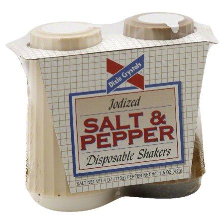 Advantus Salt & Pepper Disposable Shaker - 4 Oz Salt, 1.5 Oz Pepper - 1 Pack - Ace Office Sn16010