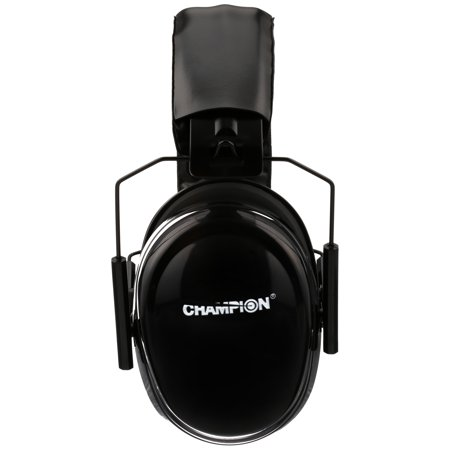 Champion Black Passive Ear Muffs Carded Pack