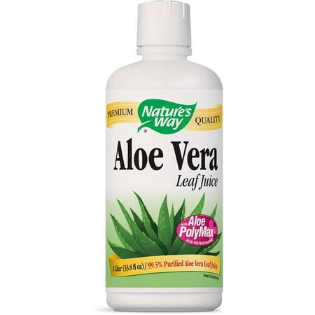 Nature's Way Aloe Vera Whole Leaf Juice, 1 Liter (Pack of 2) ()