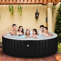 Goplus Portable Inflatable Bubble Massage Spa Hot Tub 6 Person