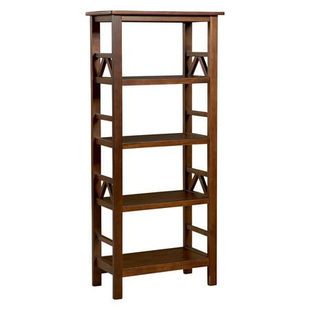 Linon Titian 4-Shelf Bookcase, 54 inches High, Multiple Colors