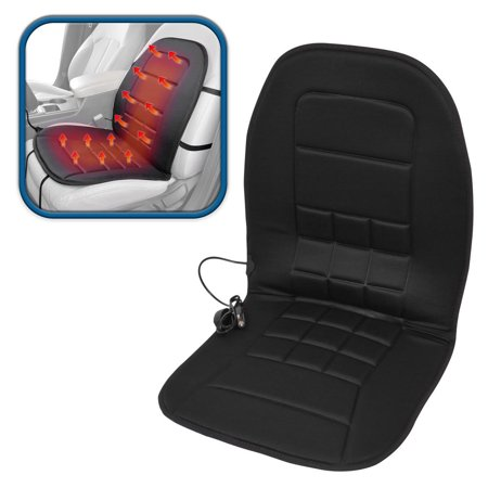 ComfyThrones Car Seat Cushion Warmer - Soft Padded Velour - Heated Seat Cushion for Car SUV Van & Truck