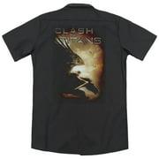 Clash Of The Titans Pegasus (Back Print) Mens Work Shirt