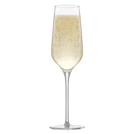 Fluted Glass Champagne Glass - Libbey Signature Greenwich Champagne Flute Glasses, Set of 4