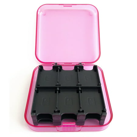 2 Plastic Carrying Case - 7 Authorized  Nintendo Switch Game Card Hard Plastic Storage Carrying Protector Case Holds 24 - Pink