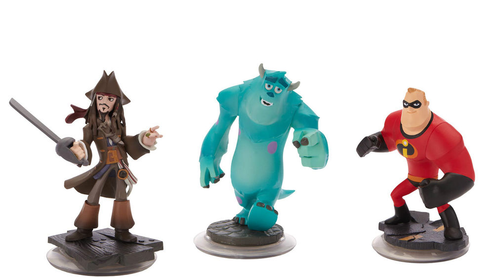 Disney Infinity Character 3-Pack: Jack Sparrow, Mr. Incredible, & Sulley by