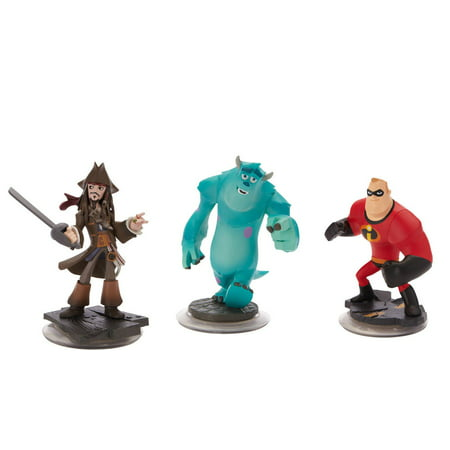 Disney Infinity Character 3-Pack: Jack Sparrow, Mr. Incredible, & Sulley - Disney Character Ideas For Dressing Up