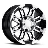"Vision 375 Warrior 15x7.5 5x5.5"" -12mm Black/Machined Wheel Rim 15"" Inch"