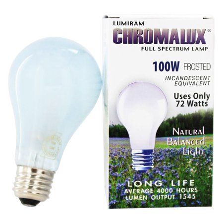 chromalux light bulb frosted 100w 1 bulb. Black Bedroom Furniture Sets. Home Design Ideas