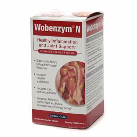 Garden Of Life Wobenzym N Healthy Inflammation And Joint Support Tablets - 200 (Wobenzym N 800 Best Price)