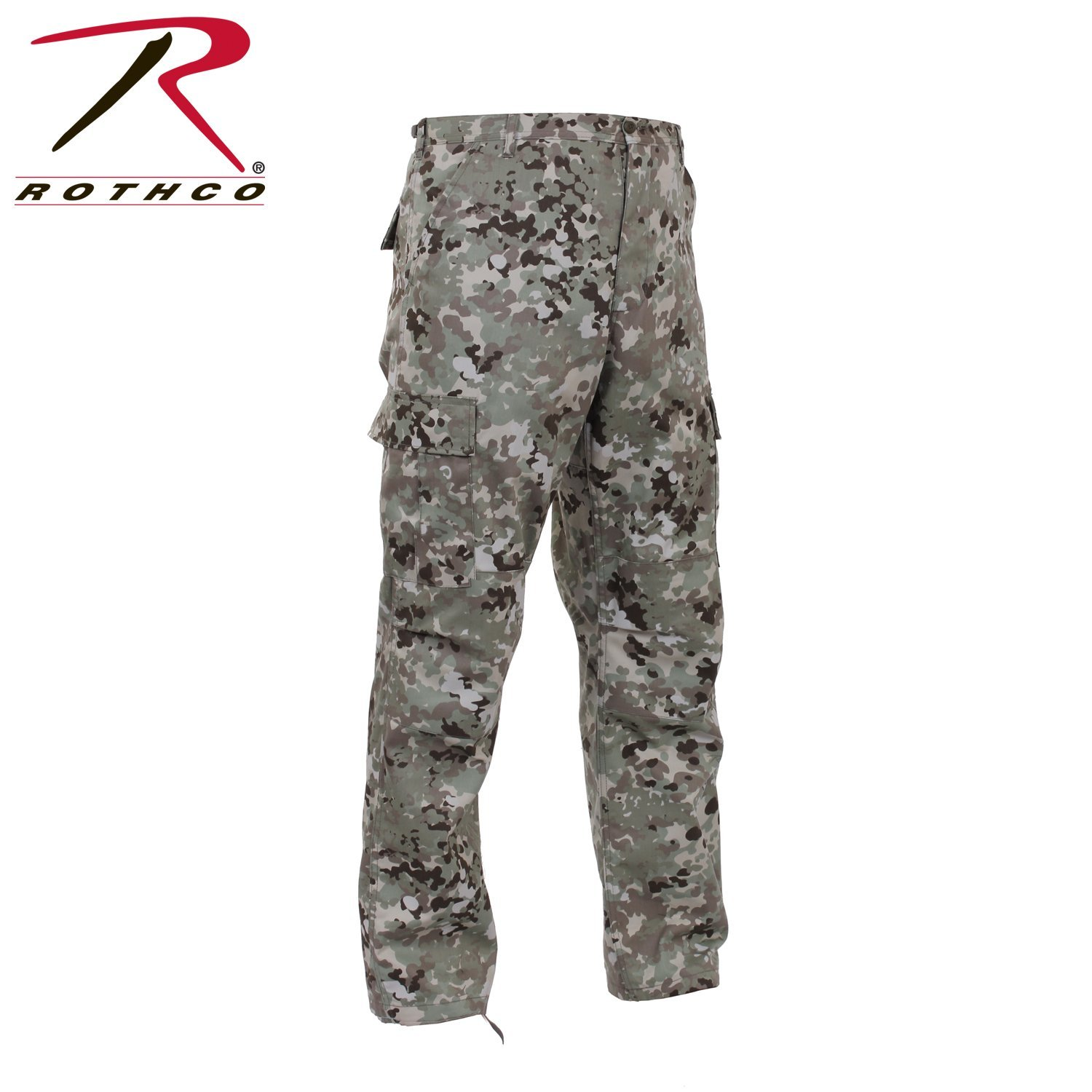 Rothco Camo Tactical BDU Pants - Total Terrain Camo, X-Large