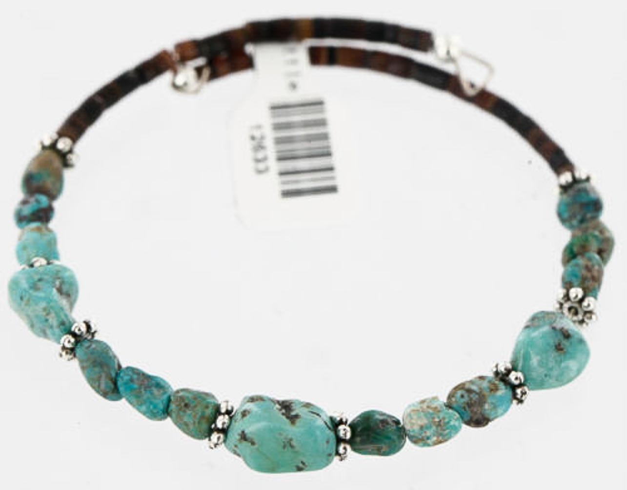 80 Retail Tag Authentic Made by Charlene Little Navajo Navajo Turquoise Native American WRAP Bracelet by