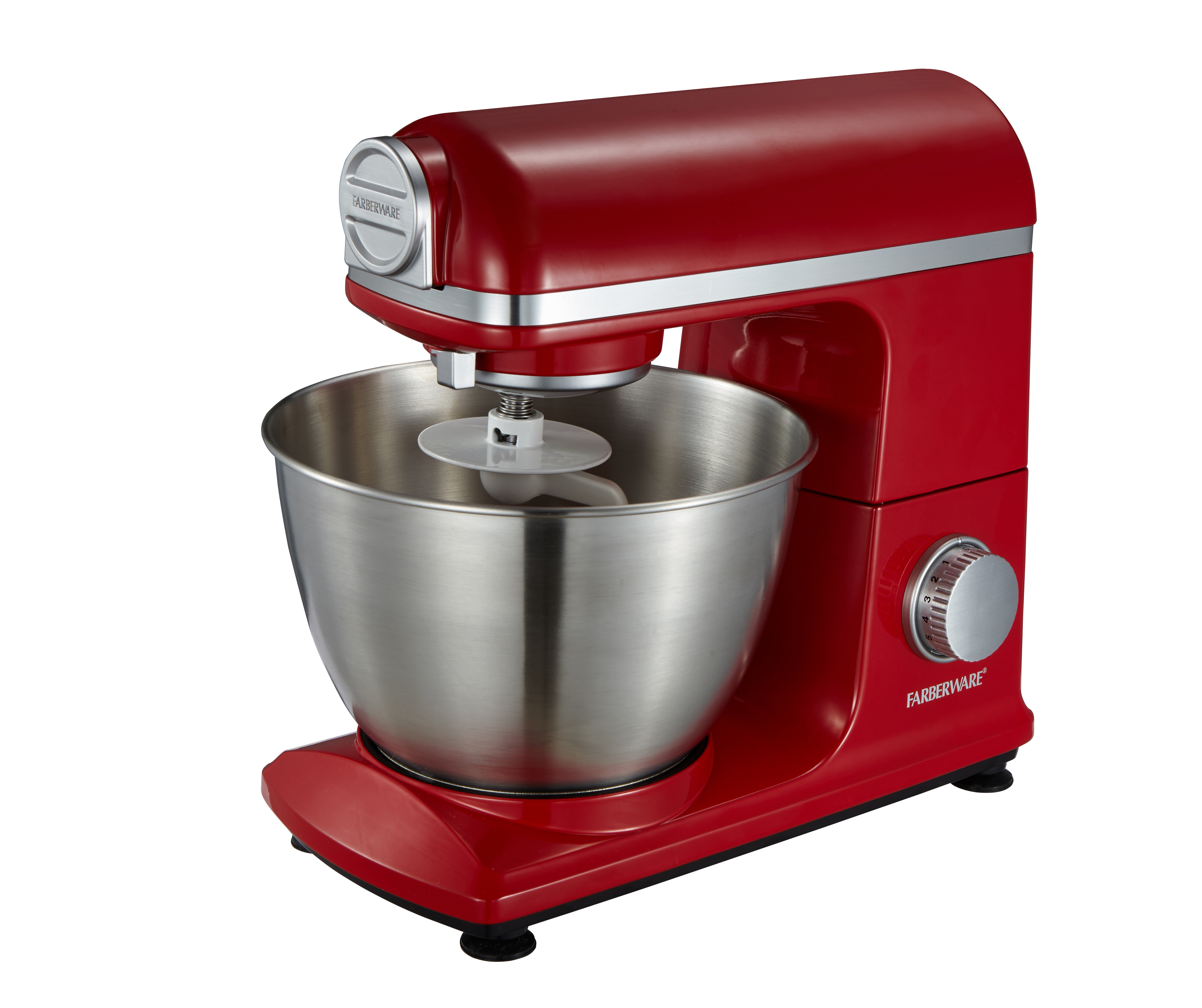 Farberware 4.7 Qt. Stand Mixer, Red (SM3481R4)